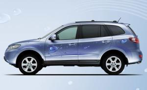 Hyundai Santa Fe blue Hybrid concept